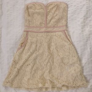 Laced Strapless Dress (Urban Outfitters)